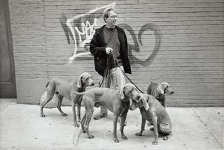 Bill walking dogs