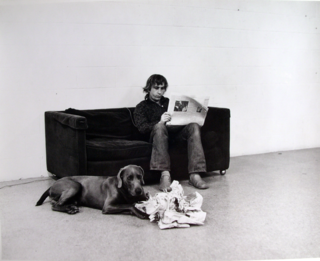 William wegman how they are toward newspapers 1973