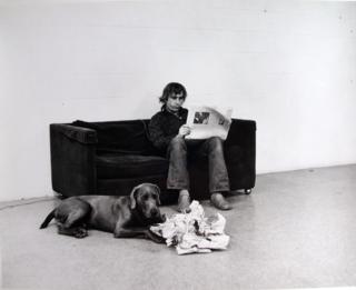 William wegman how they are toward newspapers 1973
